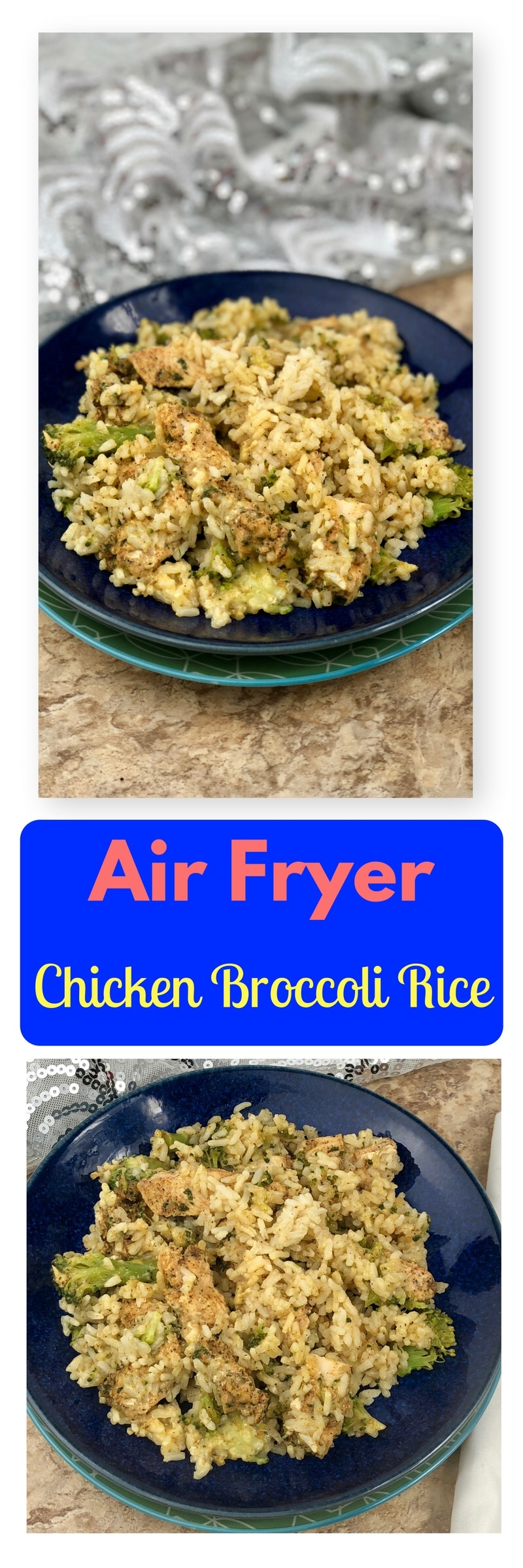 Let me welcome you all to one of my favoriteAir Fryer dishes. This creamy Creamy Air Fryer Chicken Broccoli Rice is a very simple recipe to make that creates a single serve dish. You create that all-in-one healthy dinner in foilpackets that are rich in flavor and will leave your family feeling satisfied. If you serve the chicken broccoli rice in the packets, there is a lot less cleanup afterward! The chicken is nice and juicy from the foil sealing in the moisture as it cooks, it truly is a blue ribbon winning dish.