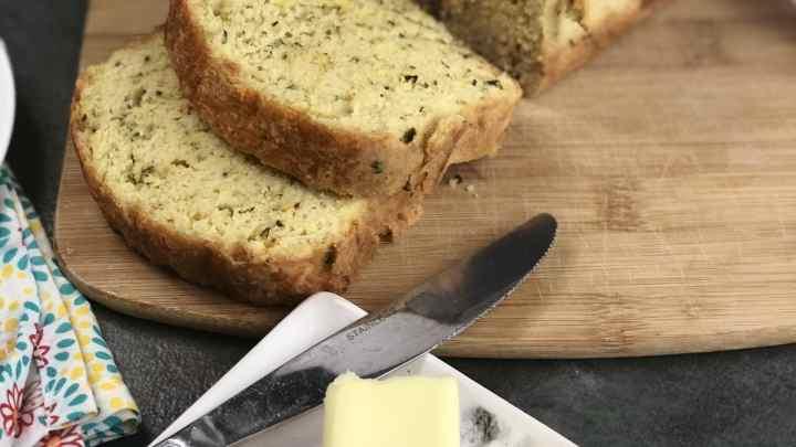 Cheddar Garlic Herb Keto Bread
