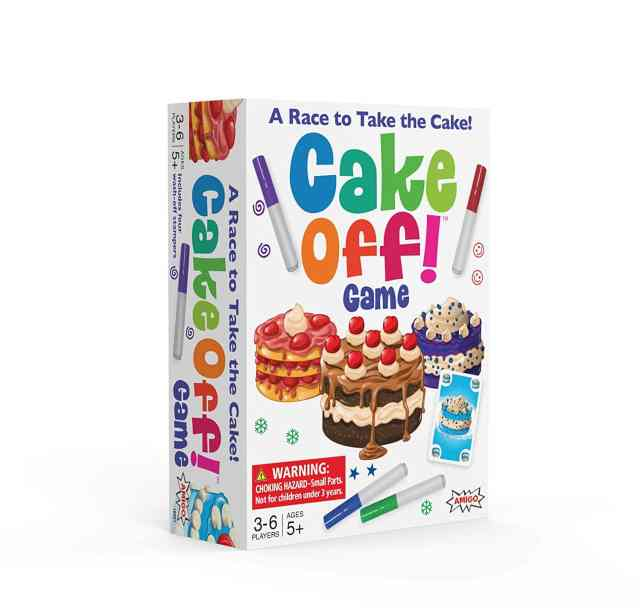 Cake Off! Kids Card Game with Wash-Off Markers