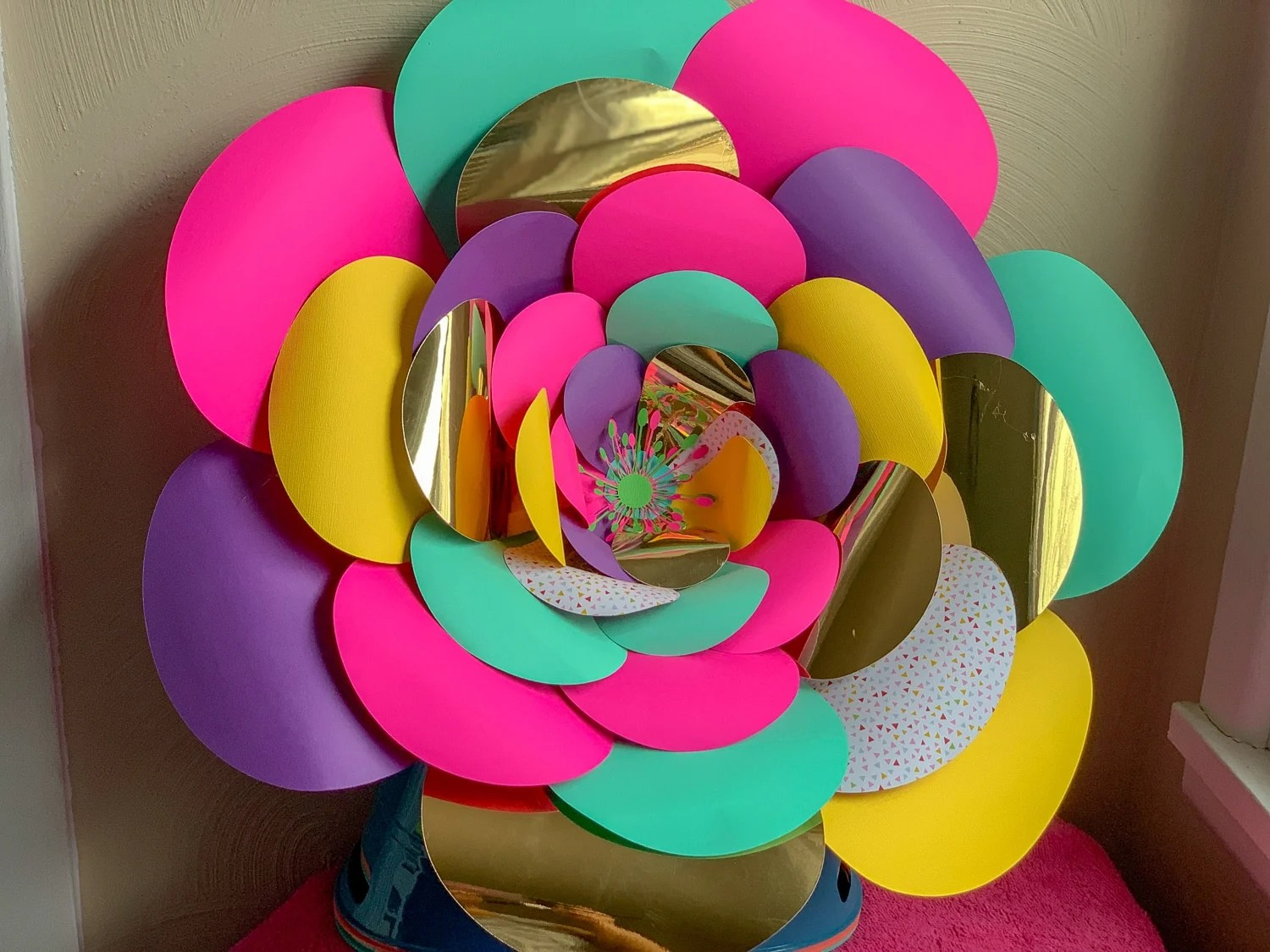 How To Make Paper Flowers By Pink
