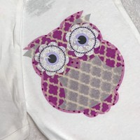 Owl Fabric Applique