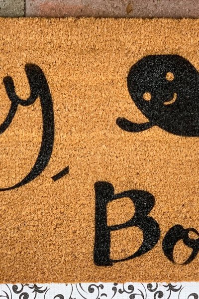 DIY Cricut Halloween Doormat