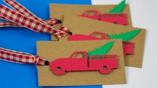 Red Truck Christmas Tag