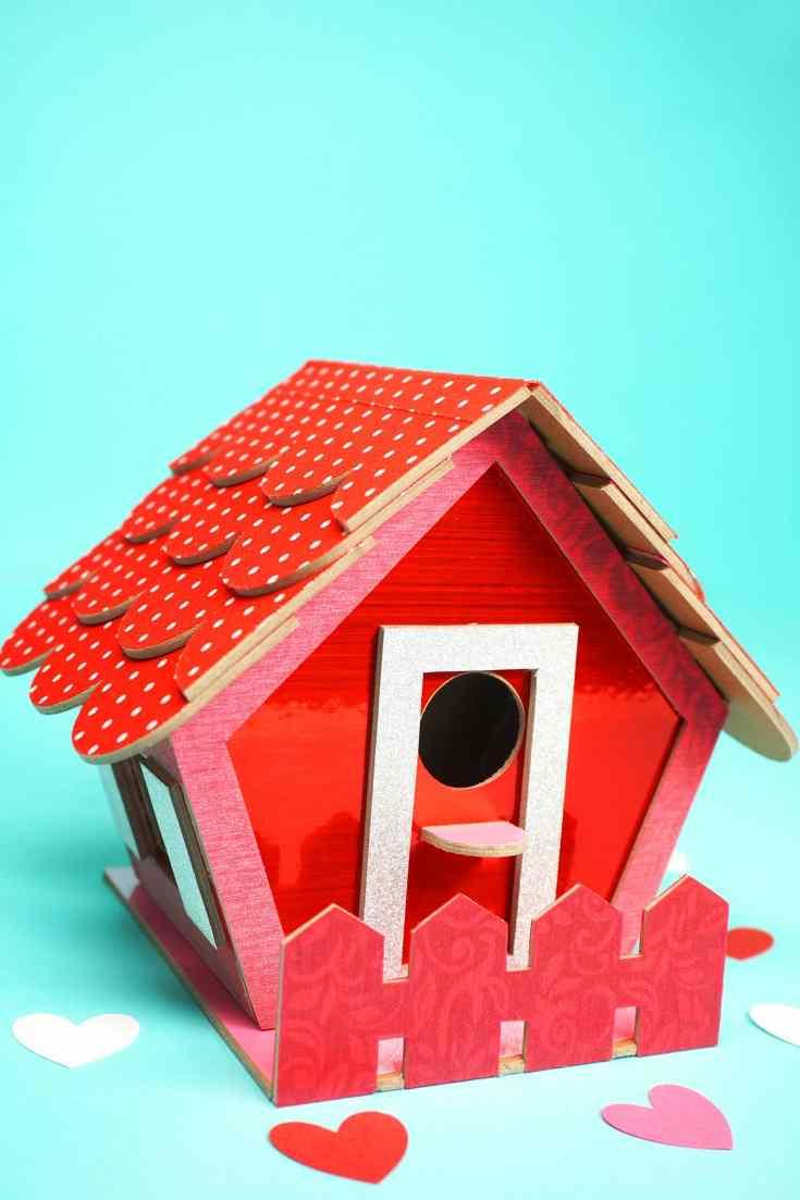 Birdhouse Valentine Box