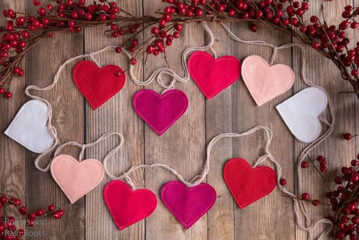 Make This Easy DIY Heart Garland with Free Cut Files