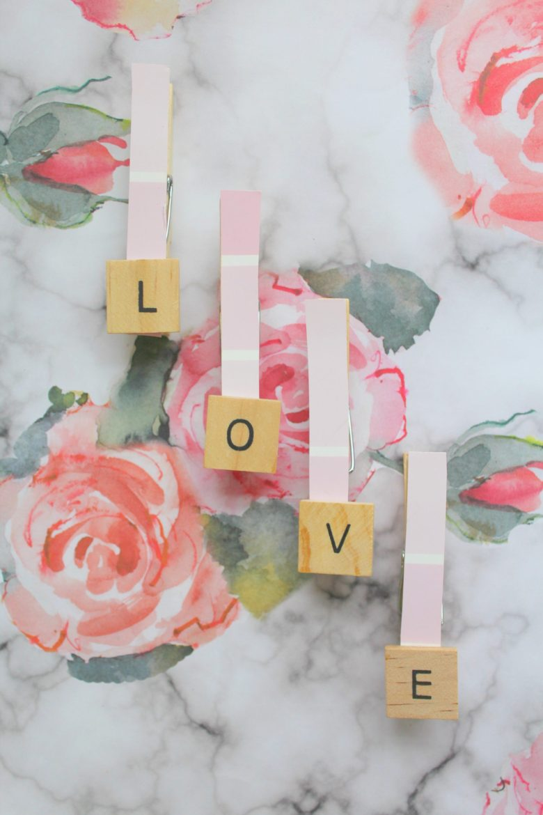 Valentine's Day Craft Idea Using Clothes Pins