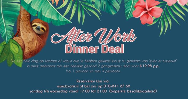 by ami after work dinner deal