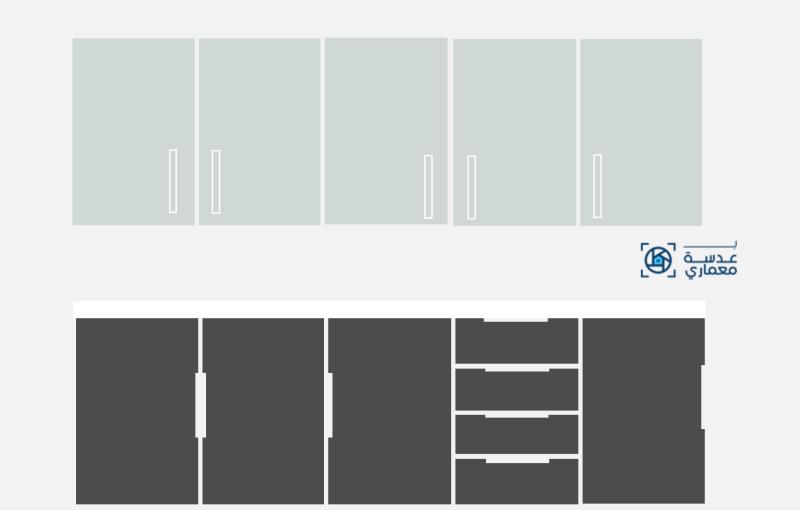 أحدث تصميمات المطابخ لعام 2021-دولاب المطبخ باستخدام الألوان والمواد المستخدمة لعام 2021