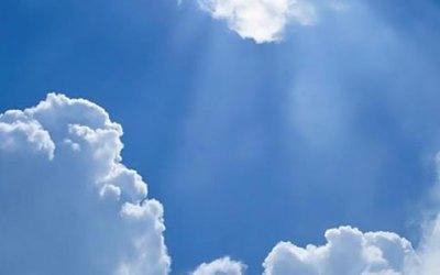 Rabbi Jesus glo op 'n wolk weg hemel toe