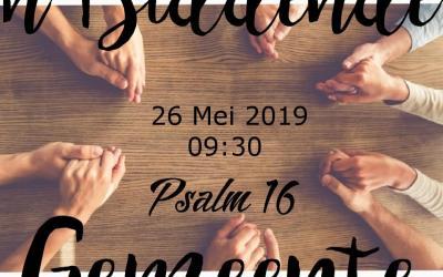 Psalm 16:8 'n Biddende gemeente