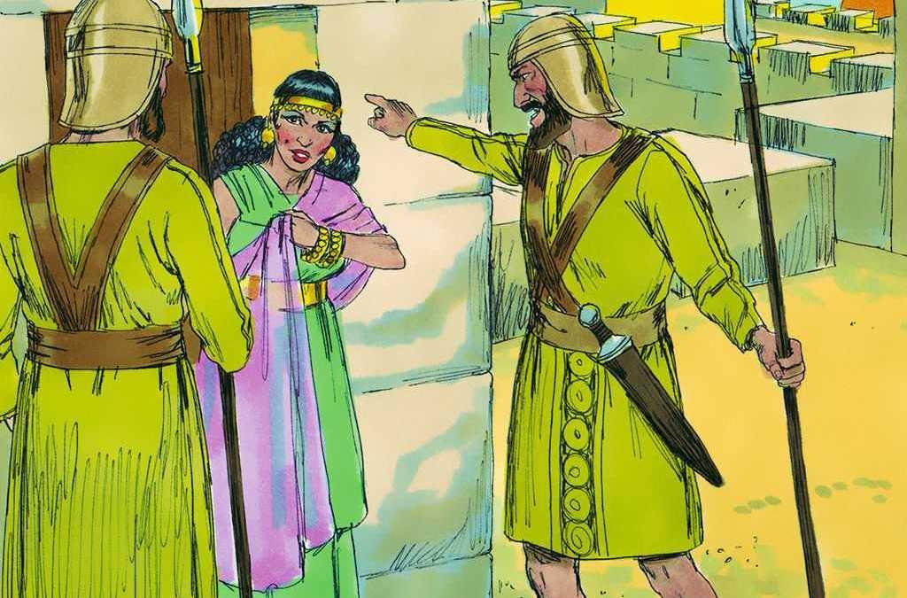 Vyandelike volk trek saam op Jordaan-oewer
