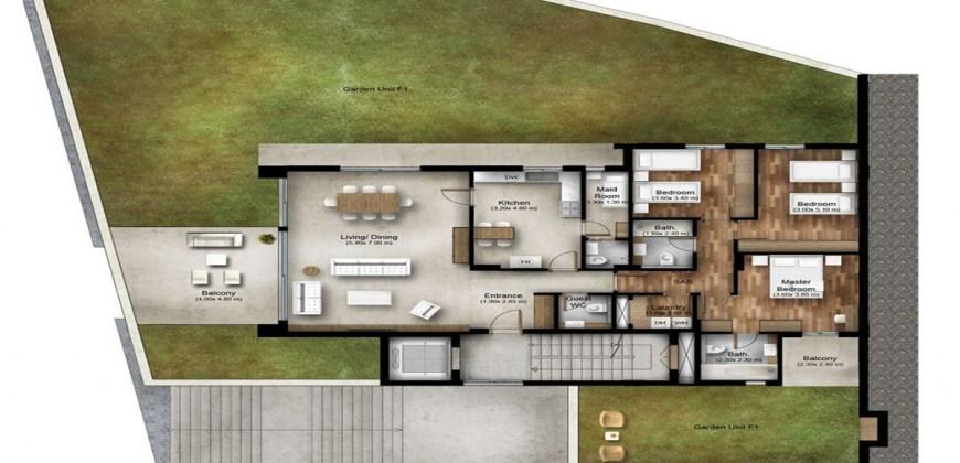 Apartment for Sale Bmahrain Jbeil Type 4 F1 GF floor Area 218Sqm and Garden 268Sqm