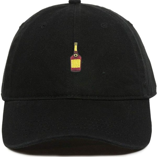 Henny Alcohol Bottle Baseball Cap Embroidered Dad Hat Cotton Adjustable Black
