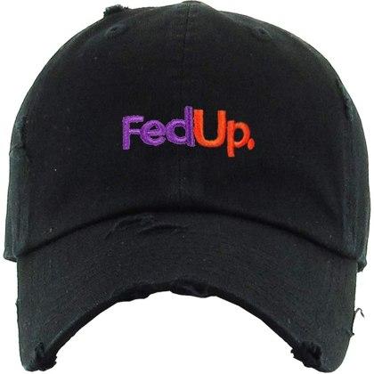 FedUp FedEx Vintage Dad Hat Baseball Cap Embroidered Cotton Adjustable