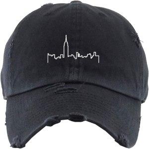 NYC Skyline Dad Hat Baseball Cap Embroidered Cotton Adjustable