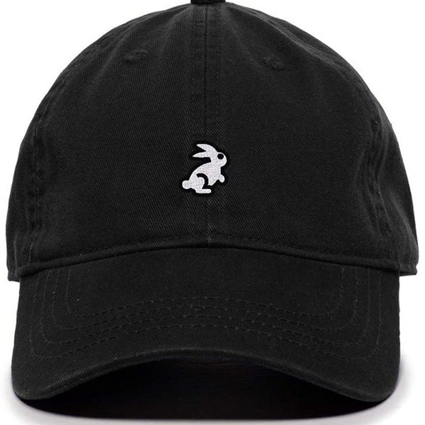 Bunny New Baseball Cap Embroidered Dad Hat Cotton Adjustable Black