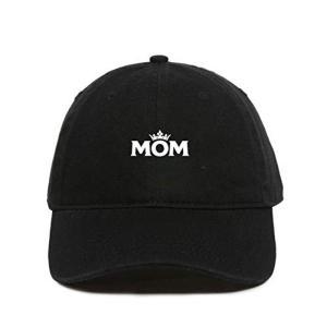 Mom Crown Baseball Cap Embroidered Dad Hat Cotton Adjustable Black