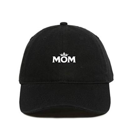 Mom Crown Baseball Cap Embroidered Dad Hat Cotton Adjustable