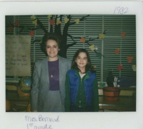 Me and my 1sr grade teacher