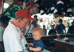 Grandpa & Paxton at fair