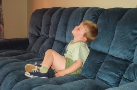 The boy sleeping