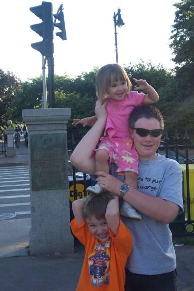 Matt and the kids