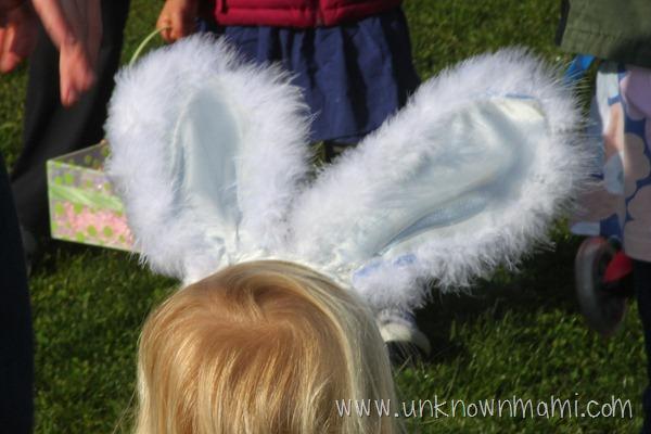 White bunny ears.