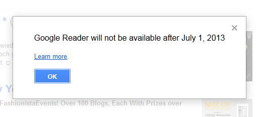 Google Reader Discontinued