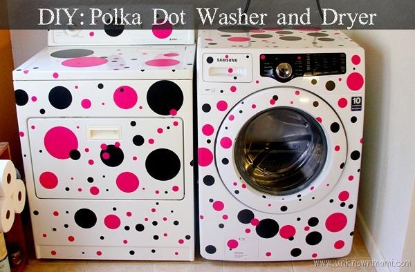 DIY Polka Dot Washer and Dryer