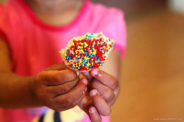 Homemade sugar icing perfect for adding sprinkles to cookies