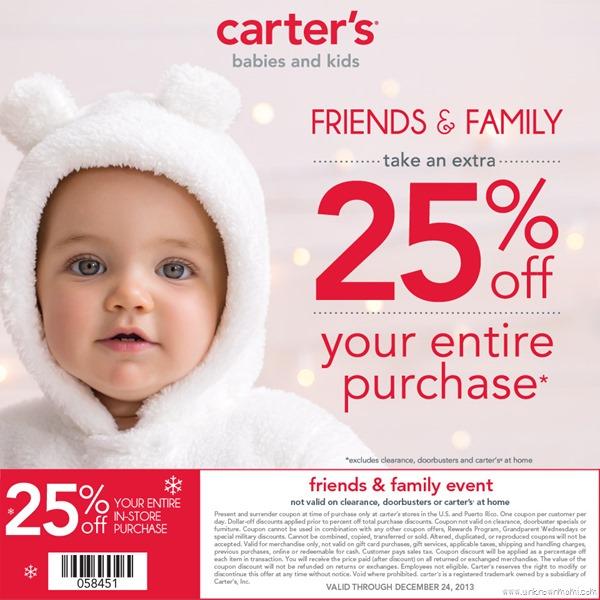 MCC Carter's Friends & Family Coupon #CartersFam