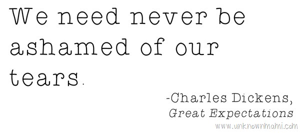 Charles Dickens quote about crying