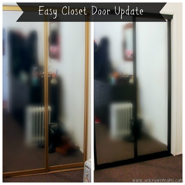 Easy closet door spray paint update