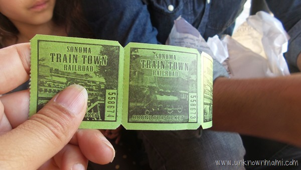 Tickets to Sonoma Train Town