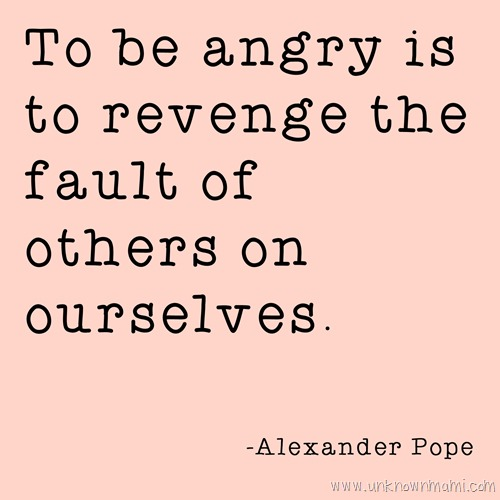 Alexander Pope quote about anger