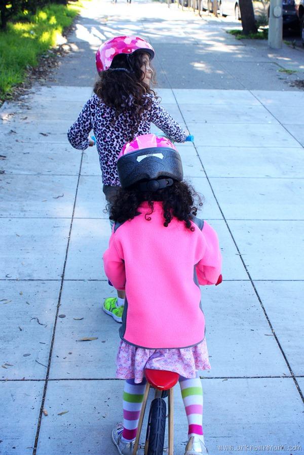Kids riding bikes in San Fransico