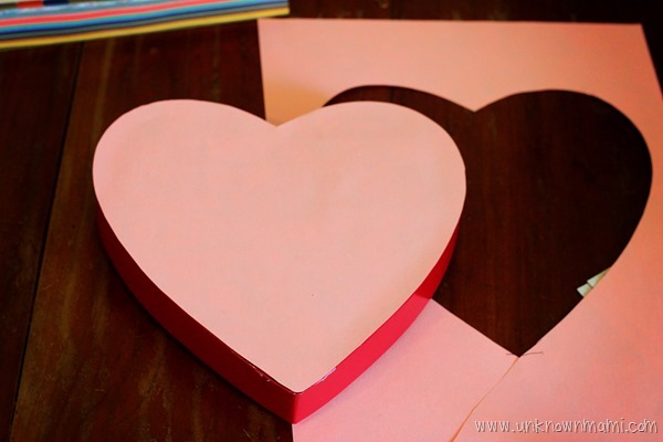 Decorated chocolate heart box