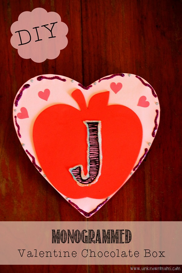 DIY Monogrammed Valentine's Day Chocolate Boxes