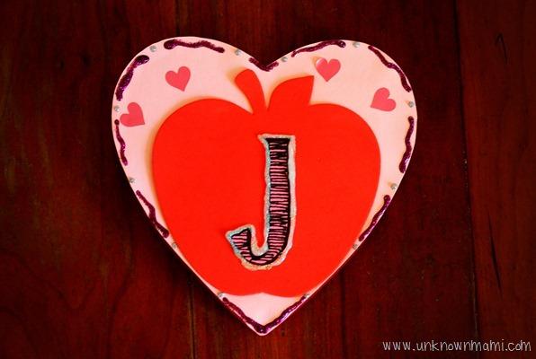 Monogrammed Valentine Day Candy Box