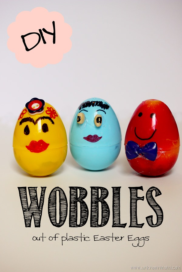 Wobble dolls craft from plastic Easter eggs