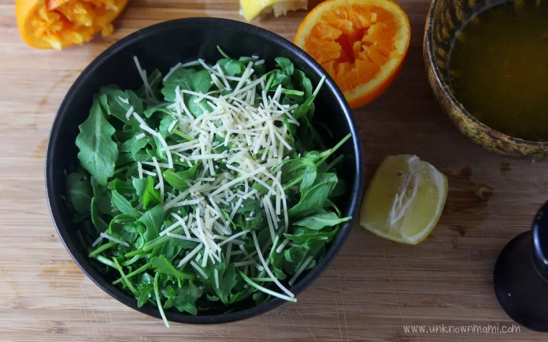 Baby Arugula and Parmesan Salad With Homemade Citrus Dressing