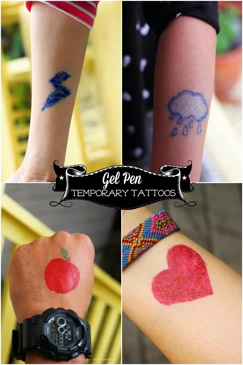 DIY Gel Pen Tattoos