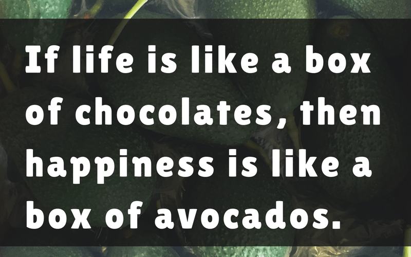 Happiness is Like a Box of Avocados (Sundays In My City)