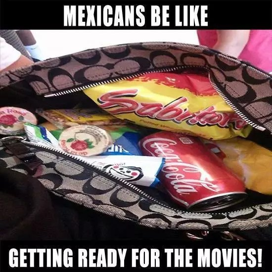 Snacks in purse meme