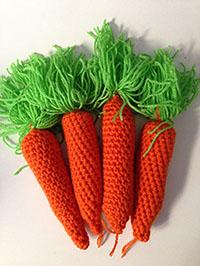 Patrón zanahorias en crochet