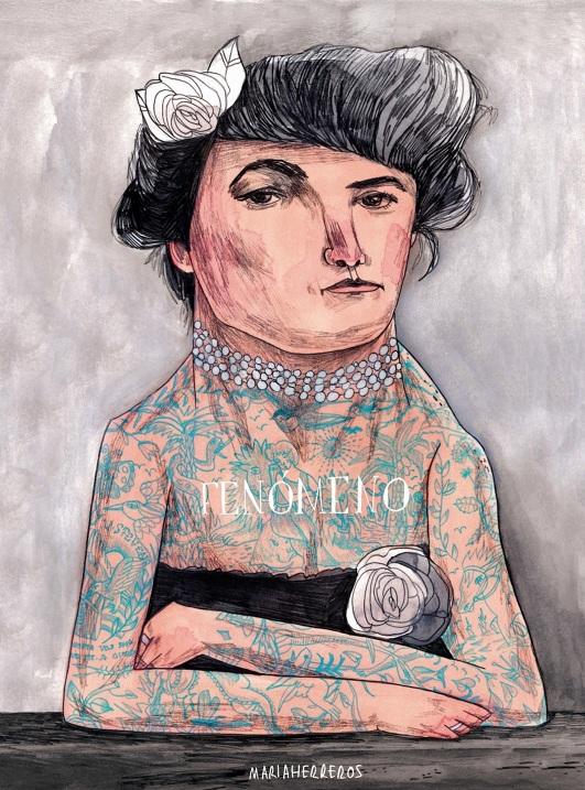 María Herreros, ilustración libro Fenómenos
