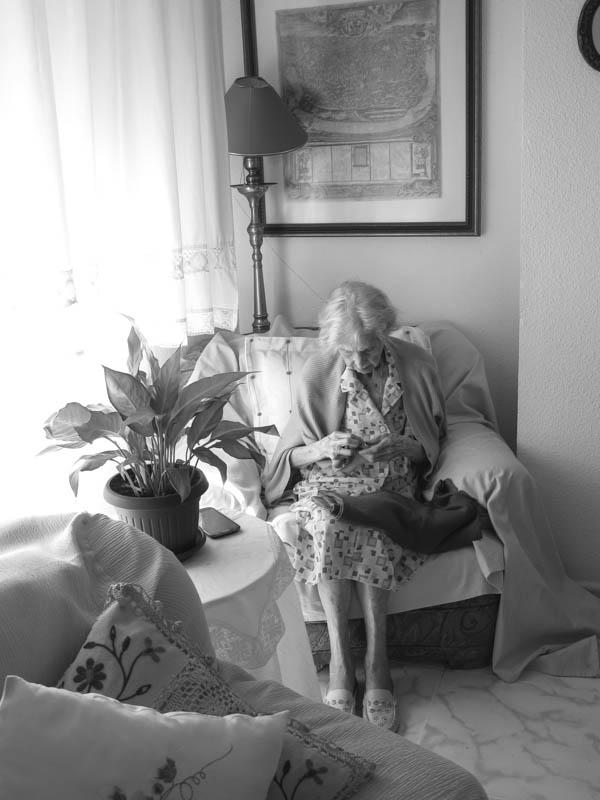 La abuela crece, fotografía de Alicia Seoane