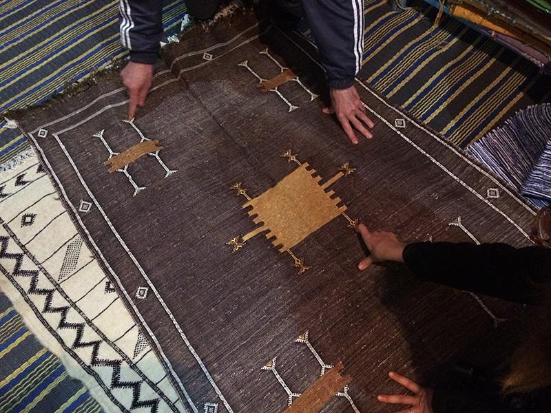 Chaouen, alfombras, Marruecos