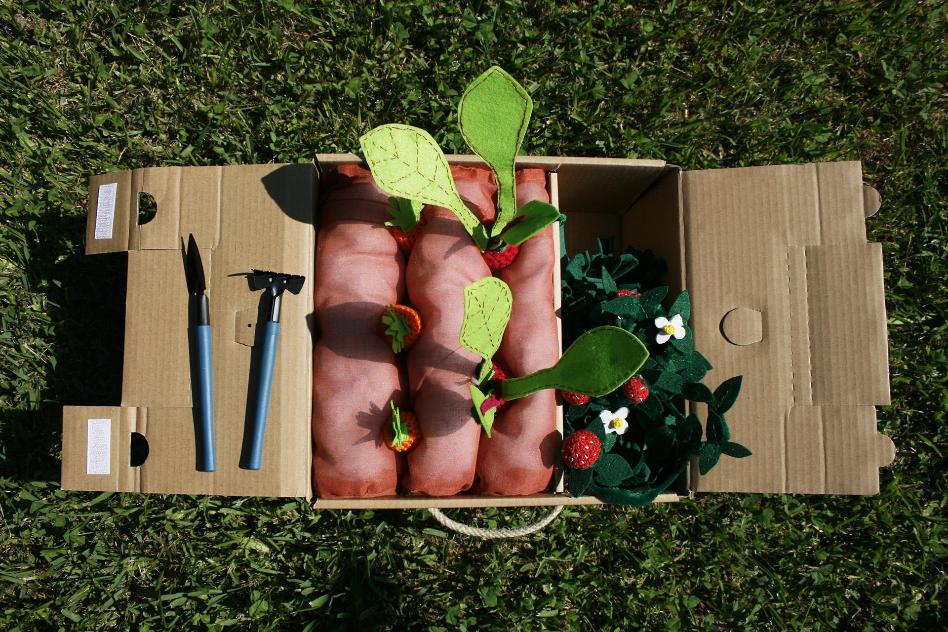 Huerto juguetes para niños en crochet