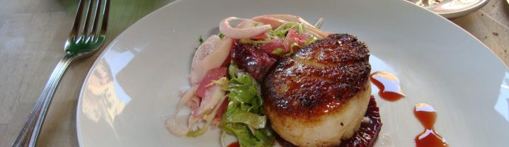 The Market Table seared scallop in blood orange sauce
